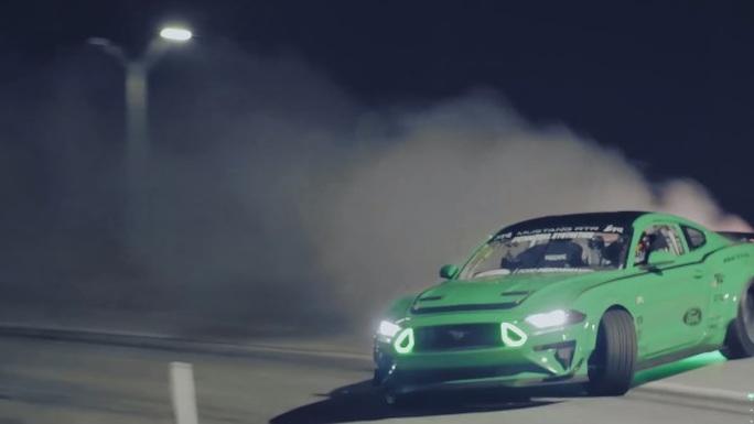 Vaughn Gittin Jr. drifts Mustang RTR