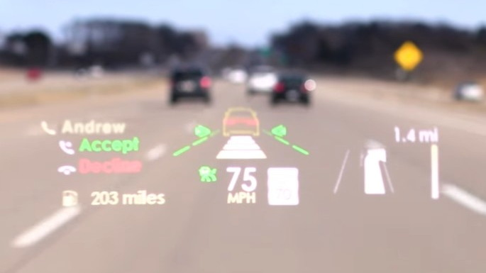 2017 Lincoln Continental head-up display