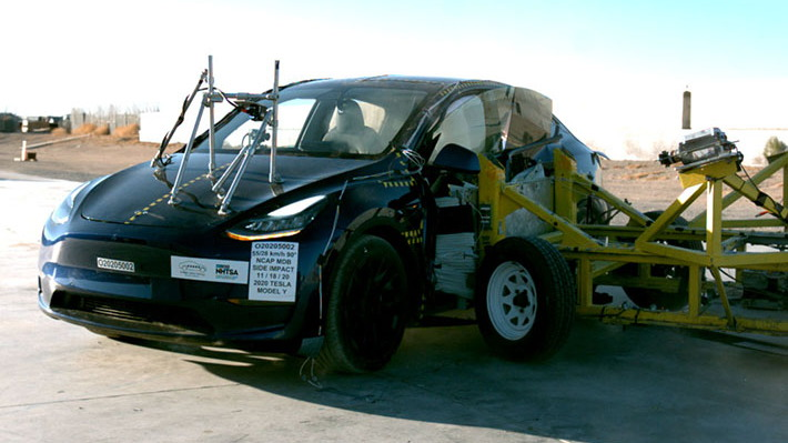 2021 Tesla Model Y  -  U.S. NCAP crash-testing