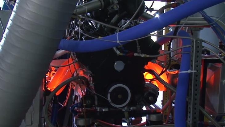 Ford Racing EcoBoost V-6 Daytona Prototype engine on the dyno