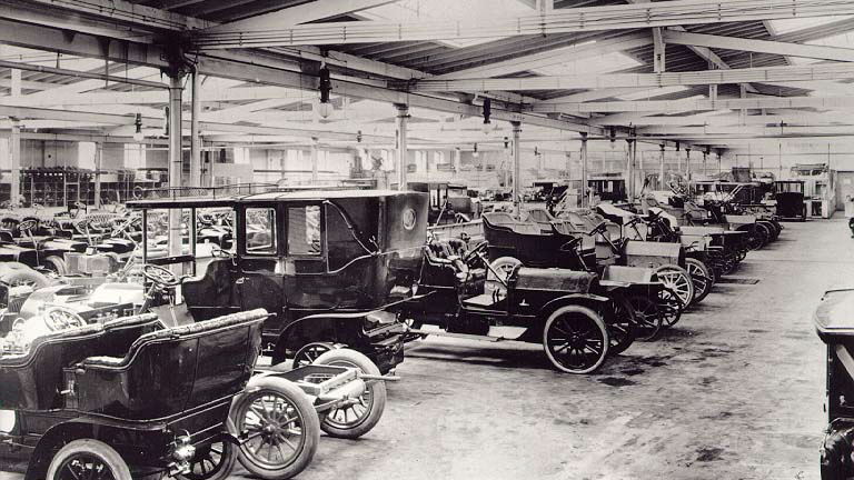 Scenes from Opel's history - Opel production in 1906