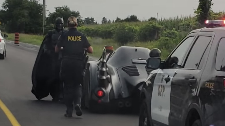 Batman pulled over in Ontario, Canada