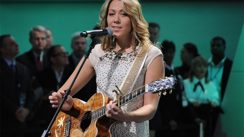 Colbie Caillat at the 2011 Detroit Auto Show