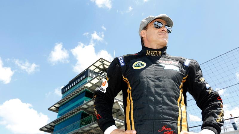 Jean Alesi at Indianapolis Motor Speedway's Pagoda - photo courtesy IZOD IndyCar Series