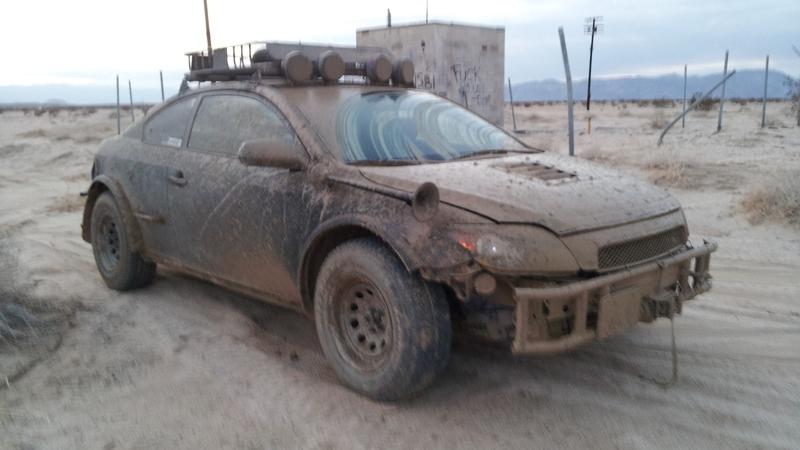 Off-road Scion tC. Images via Wes 'SergeantBiscuits'.