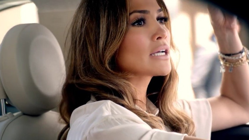 Jennifer Lopez in an ad for the 2012 Fiat 500c