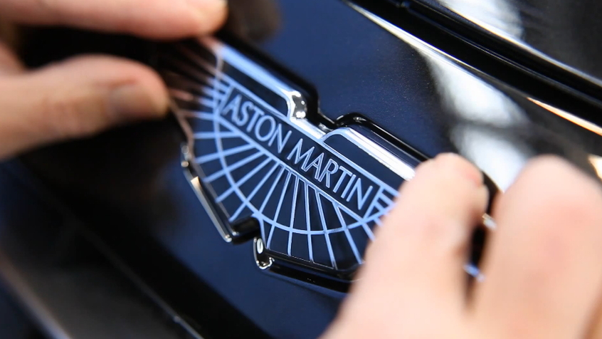 Putting the finishing touches on an Aston Martin Cygnet.