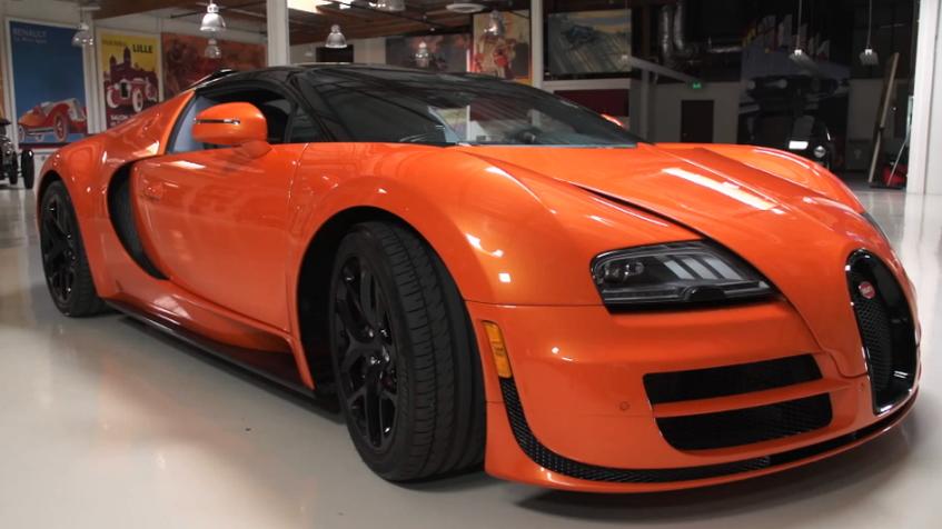 Bugatti's Veyron Grand Sport Vitesse visits Jay Leno's Garage