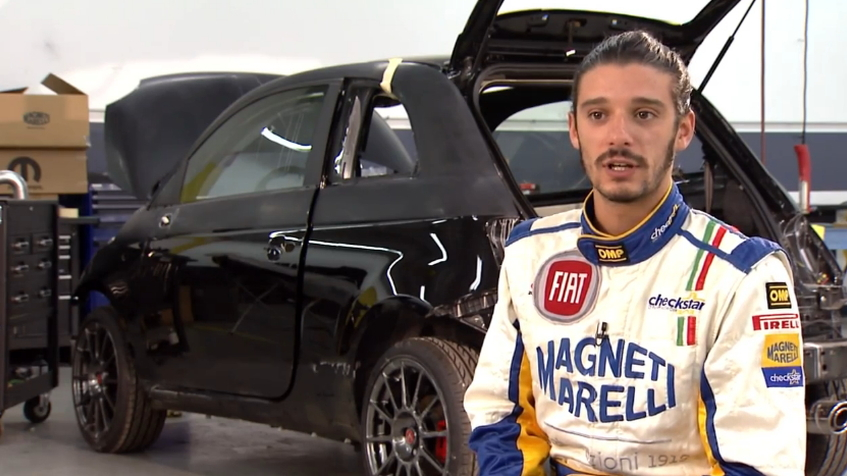 Matteo Romano talks about the Magneti Marelli Fiat 500 Abarth