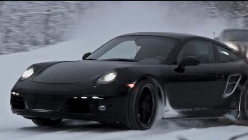 Porsche's new 911 Carrera undergoes winter testing at the Arctic Circle