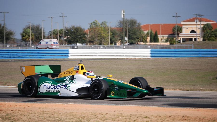 Simona de Silvestro tests at Sebring - Lotus HVM Racing photo