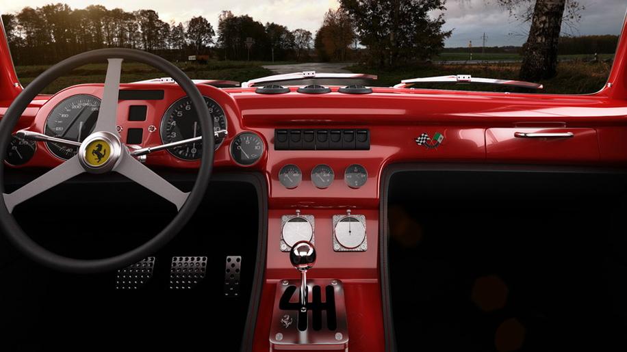 GWA Tuning's Ferrari 340 Mexico Berlinetta tribute. Image: GWA Tuning