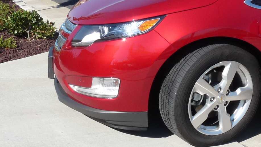 2011 Chevy Volt front air dam, after modification