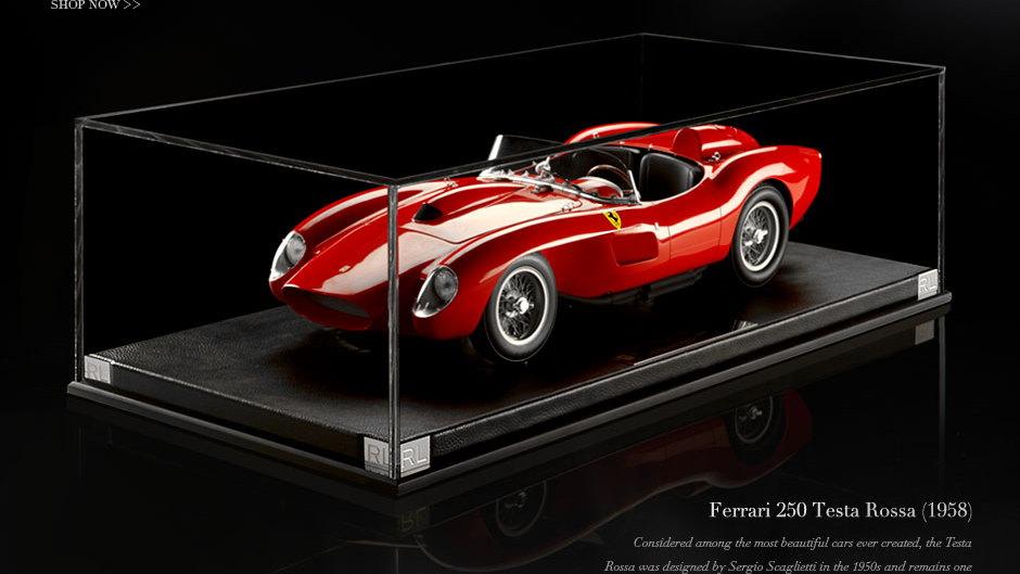 Ralph Lauren's 1962 Ferrari 250 GTO, in 1:8 scale.  Image: Ralph Lauren Home