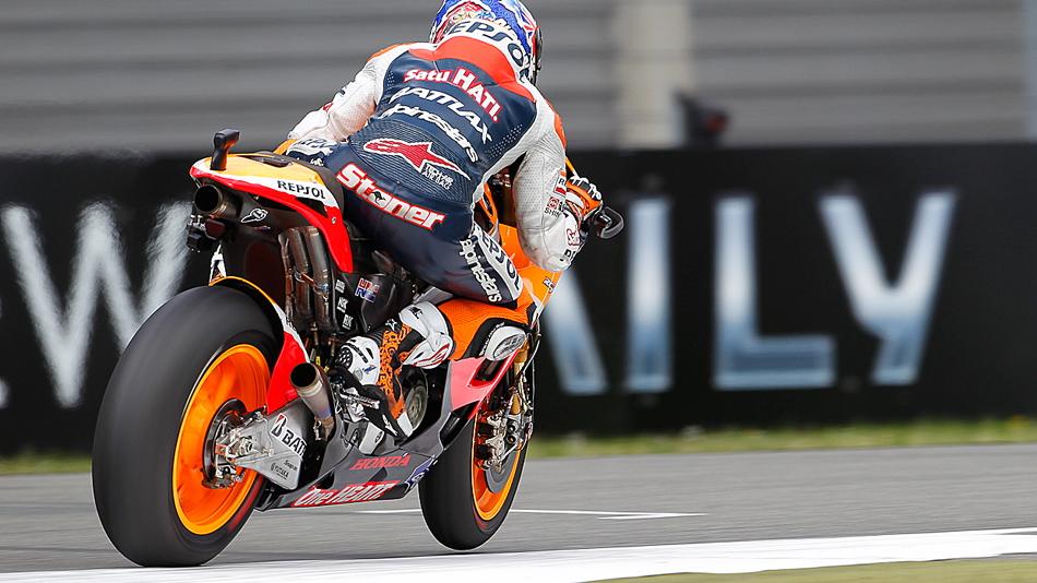 Casey Stoner overcame a spill to earn Assen's pole - MotoGP photo