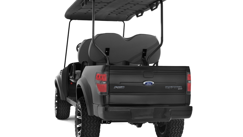 Ford F-150 SVT Raptor electric ATV by Caddyshack Golf Cars