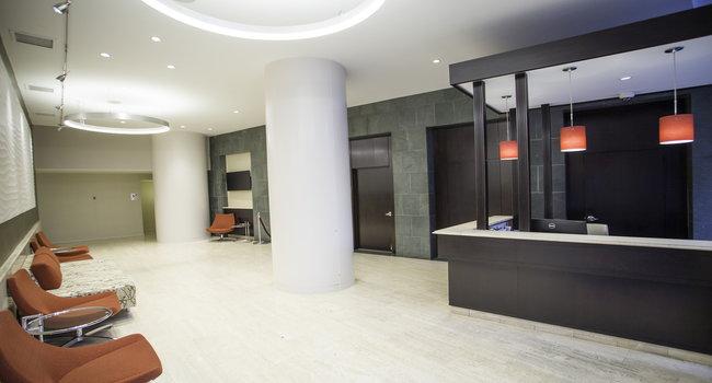 Contemporary Designer Lobby with 24-hour Concierge