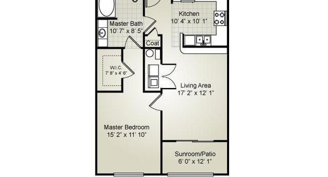1 Bedroom / 1 Bath / 738 Sq.Ft.