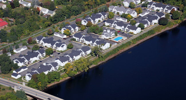 Riverwalk Apartments, located along the Hudson River