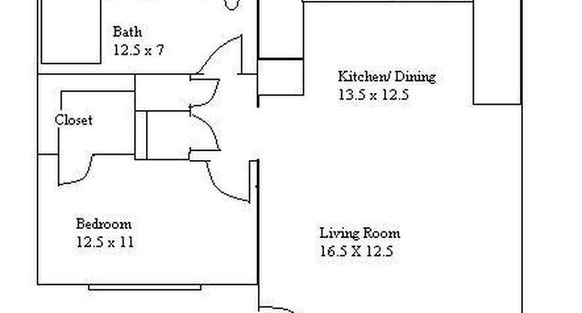 1 Bedroom / 1 Bath / 795 Sq.Ft.