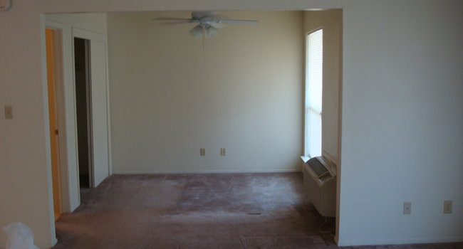 Facing the bedroom in the efficiency type apartment