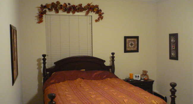 The master bedroom fits a queen bedroom suit. The closet, just to the right of where this pic cuts off, is enormous!