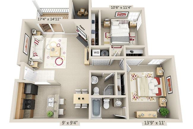 Floor Plan Photo Of Bonhomme Village In Saint Louis Mo